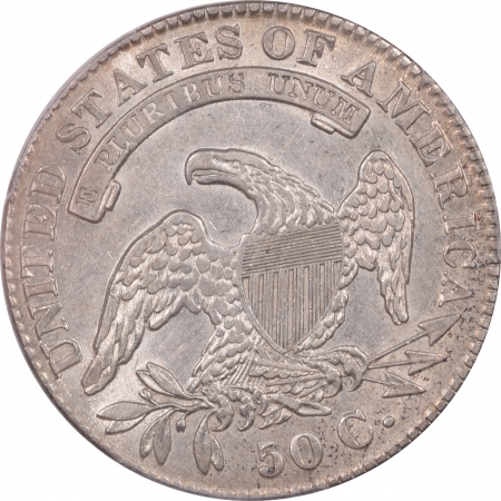 New Certified Coins 1830 CAPPED BUST HALF DOLLAR – OVERTON 108 SMALL 0 – PCGS AU-50 PQ! LOOKS AU-55!