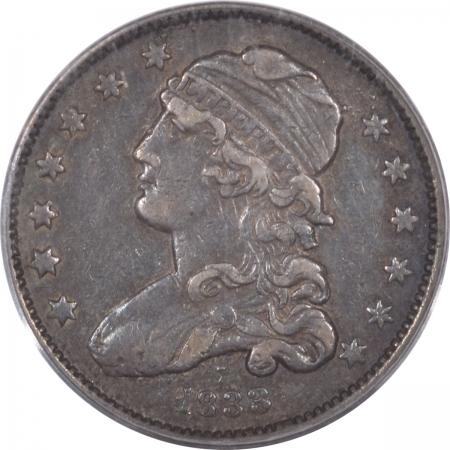New Certified Coins 1833 CAPPED BUST QUARTER – PCGS VF-35 ORIGINAL!