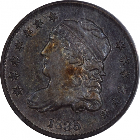 New Certified Coins 1835 CAPPED BUST HALF DIME SMALL DATE SMALL 5C – PCGS AU-50 PREMIUM QUALITY!