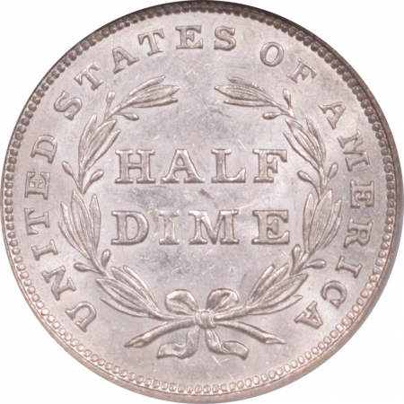 New Certified Coins 1840 SEATED LIBERTY HALF DIME – NO DRAPERY – NGC MS-62 FLASHY & NICE!