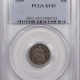 New Certified Coins 1850 SEATED LIBERTY DIME – PCGS VF-30