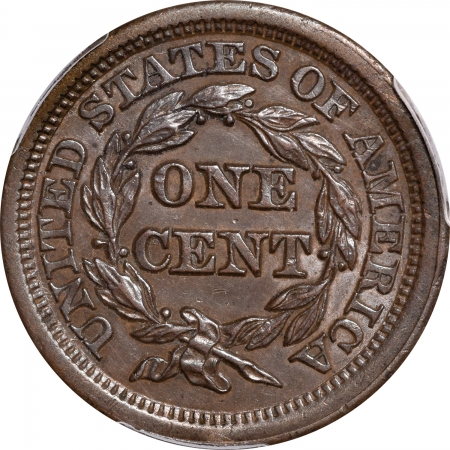Braided Hair Large Cents 1849 BRAIDED HAIR LARGE CENT – PCGS AU-58