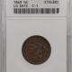 New Certified Coins 1850 BRAIDED HAIR HALF CENT – ANACS AU-55 SCARCE! NICE!