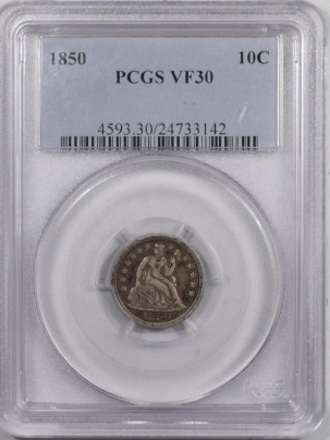 Liberty Seated Dimes 1850 SEATED LIBERTY DIME – PCGS VF-30