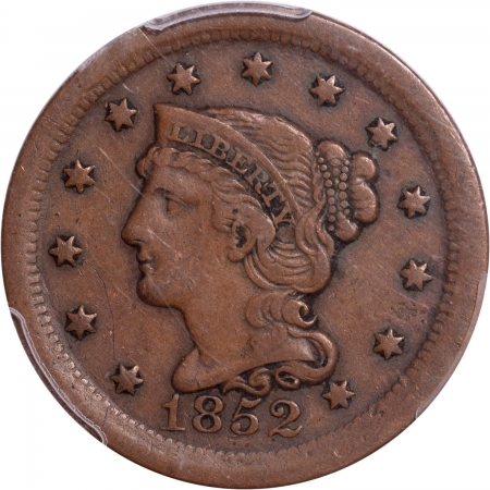 Braided Hair Large Cents 1852 LARGE CENT PCGS XF-40