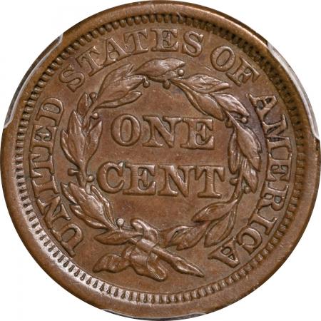 Braided Hair Large Cents 1853 BRAIDED HAIR LARGE CENT – PCGS AU-53