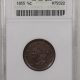 New Certified Coins 1854 BRAIDED HAIR HALF CENT – ANACS AU-50 SMOOTH!