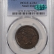 Braided Hair Large Cents 1856 BRAIDED HAIR LARGE CENT – SLANTED 5, PCGS AU-58
