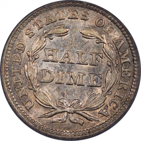 Liberty Seated Half Dimes 1859 SEATED LIBERTY HALF DIME – PCGS AU-58