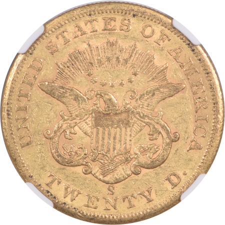 CAC Approved Coins 1859-S $20 LIBERTY GOLD DOLLAR, TYPE 1, NGC XF-45 CAC APPROVED, PQ, LOOKS BETTER