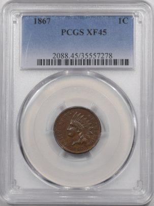 1867-1C-PCGS-XF45-278-1