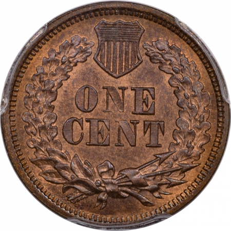 Coin World/Numismatic News Featured Coins 1869 INDIAN CENT – PCGS MS-65 RB EAGLE EYE FRESH!