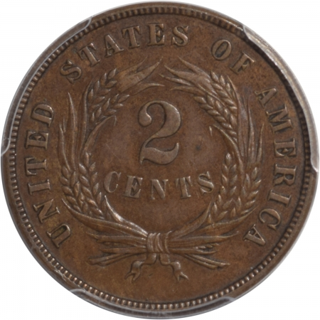 Coin World/Numismatic News Featured Coins 1872 TWO CENT PIECE PCGS AU-55, KEY DATE, PLEASING ORIGINAL