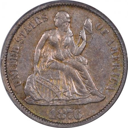 Liberty Seated Dimes 1876-CC SEATED LIBERTY DIME – PCGS XF-45