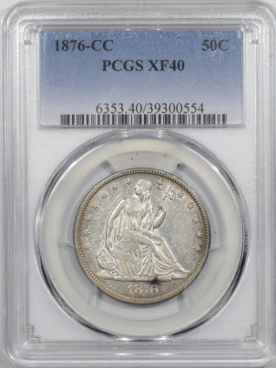 Coin World/Numismatic News Featured Coins 1876-CC LIBERTY SEATED HALF DOLLAR – PCGS XF-40