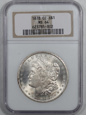 New Certified Coins 1878-CC MORGAN DOLLAR – NGC MS-64 WHITE & PREMIUM QUALITY!