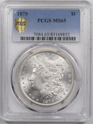 Morgan Dollars 1879 MORGAN DOLLAR – PCGS MS-65, BLAST WHITE & PQ!