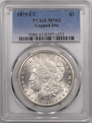 Morgan Dollars 1879-CC MORGAN DOLLAR – CAPPED DIE – PCGS MS-63 WHITE!