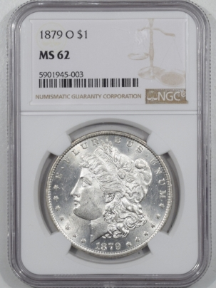 Morgan Dollars 1879-O MORGAN DOLLAR – NGC MS-62 WHITE!