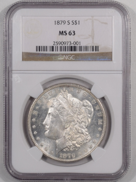 New Certified Coins 1879-S MORGAN DOLLAR – NGC MS-63