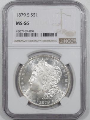 Morgan Dollars 1879-S MORGAN DOLLAR – NGC MS-66 BLAST WHITE!