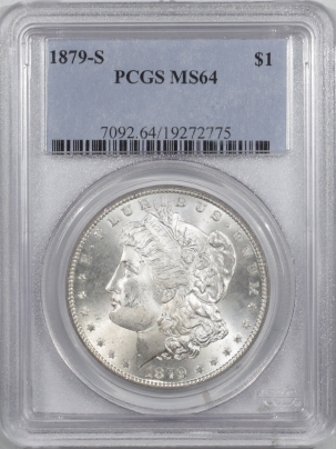 Morgan Dollars 1879-S MORGAN DOLLAR – PCGS MS-64 PREMIUM QUALITY!