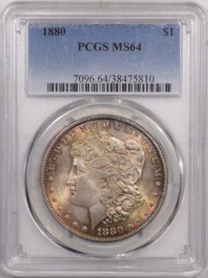 Morgan Dollars 1880 MORGAN DOLLAR – PCGS MS-64 PRETTY AND PREMIUM QUALITY!