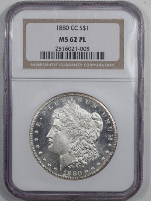 New Certified Coins 1880-CC MORGAN DOLLAR – NGC MS-62 PL WOW!