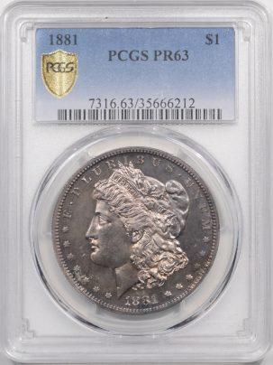 1881-$1-PCGS-PR63-212-1
