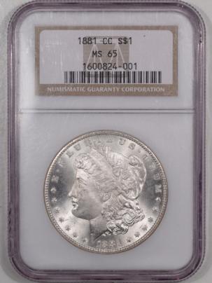 Morgan Dollars 1881-CC MORGAN DOLLAR – NGC MS-65, WHITE!
