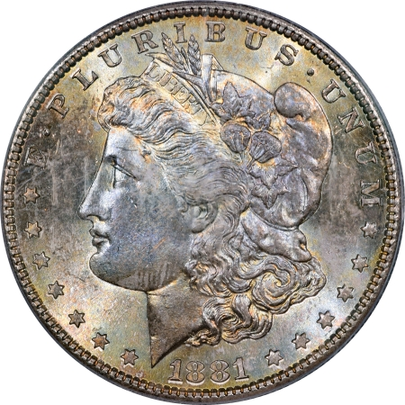 CAC Approved Coins 1881-S MORGAN DOLLAR – PCGS MS-66 PRETTY PREMIUM QUALITY & CAC APPROVED!