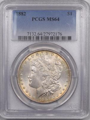Morgan Dollars 1882 MORGAN DOLLAR – PCGS MS-64