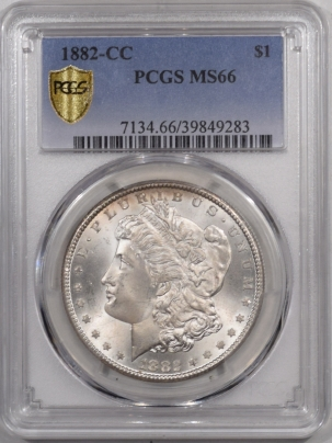 New Certified Coins 1882-CC MORGAN DOLLAR – PCGS MS-66
