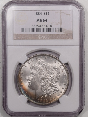 New Certified Coins 1884 MORGAN DOLLAR – NGC MS-64