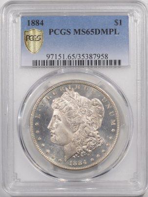 1884-$1-PCGS-MS65DMPL-958-1