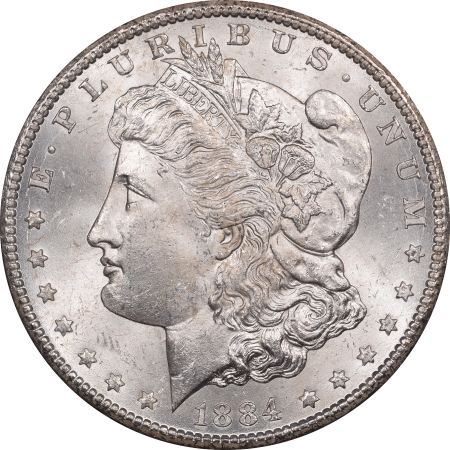 New Certified Coins 1884-CC MORGAN DOLLAR GSA WITH BOX AND CARD – NGC MS-64