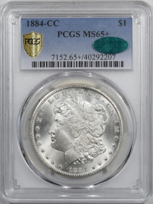 CAC Approved Coins 1884-CC MORGAN DOLLAR PCGS MS-65+ CAC APPROVED!