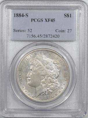 Morgan Dollars 1884-S MORGAN DOLLAR – PCGS XF-45