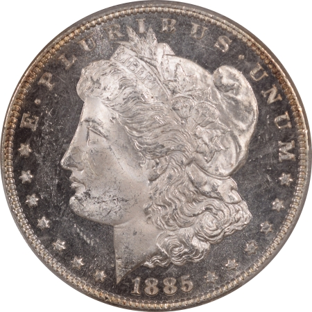 CAC Approved Coins 1885 MORGAN DOLLAR – PCGS MS-63 DMPL, CAC APPROVED! BLACK & WHITE! PQ!