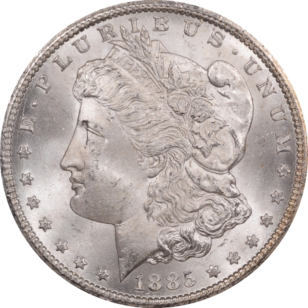 New Certified Coins 1885-CC MORGAN DOLLAR GSA WITH BOX AND CARD – NGC MS-65