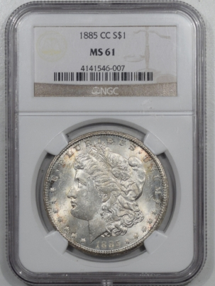 Coin World/Numismatic News Featured Coins 1885-CC MORGAN DOLLAR – NGC MS-61