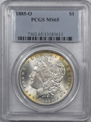 Morgan Dollars 1885-O MORGAN DOLLAR – PCGS MS-65