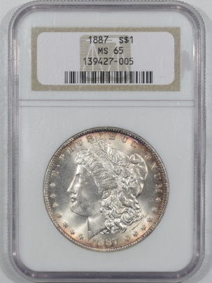 Dollars 1887 MORGAN DOLLAR NGC MS-65, FLASHY NICE GEM