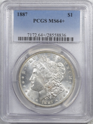 Morgan Dollars 1887 MORGAN DOLLAR – PCGS MS-64+ WHITE!
