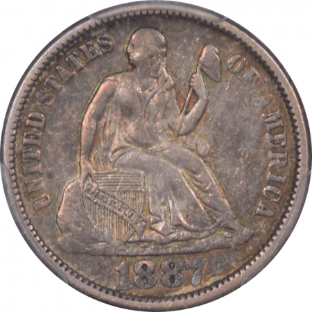 New Certified Coins 1887 SEATED LIBERTY DIME – PCGS AU-50