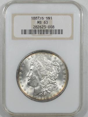 Morgan Dollars 1887/6 MORGAN DOLLAR – NGC MS-63 FATTIE, PRETTY & PREMIUM QUALITY!
