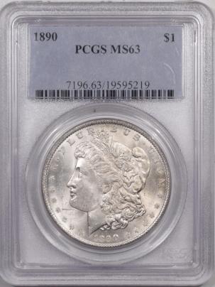 Morgan Dollars 1890 MORGAN DOLLAR – PCGS MS-63