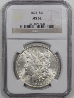 Coin World/Numismatic News Featured Coins 1892 MORGAN DOLLAR – NGC MS-62