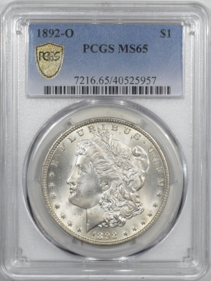 Coin World/Numismatic News Featured Coins 1892-O MORGAN DOLLAR – PCGS MS-65, BLAST WHITE, FRESH GEM!