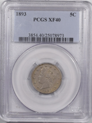 Liberty Nickels 1893 LIBERTY NICKEL – PCGS XF-40